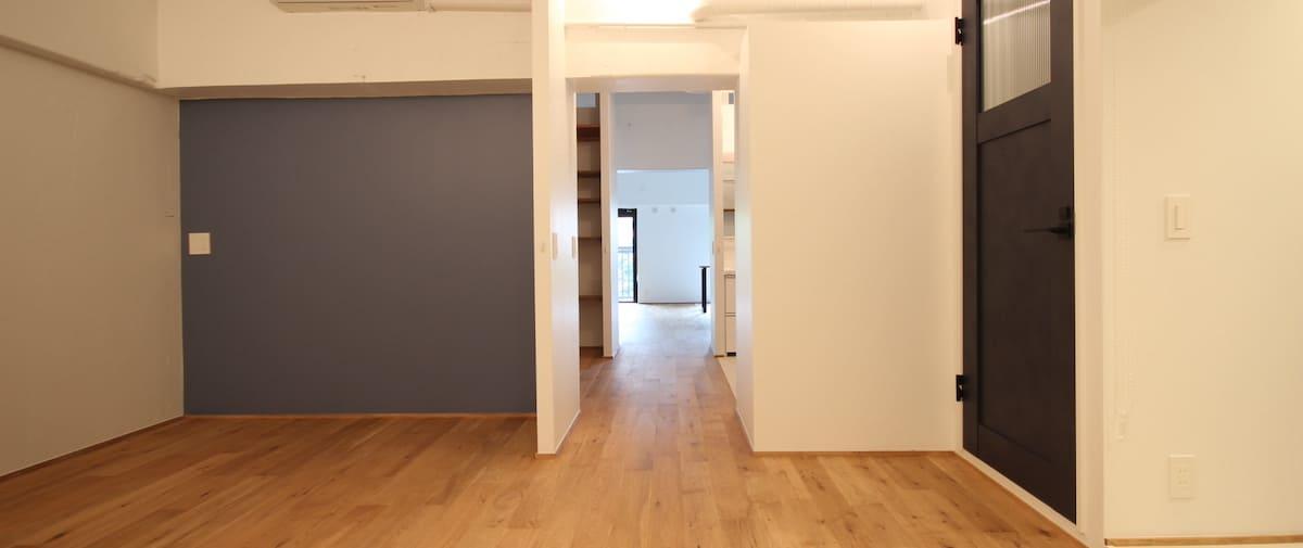 豊洲の中古マンションのリノベーション後の廊下