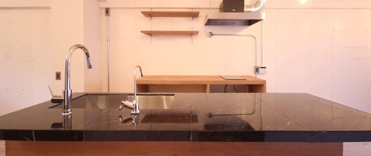 都立大学の中古マンションのリノベーション後のキッチン