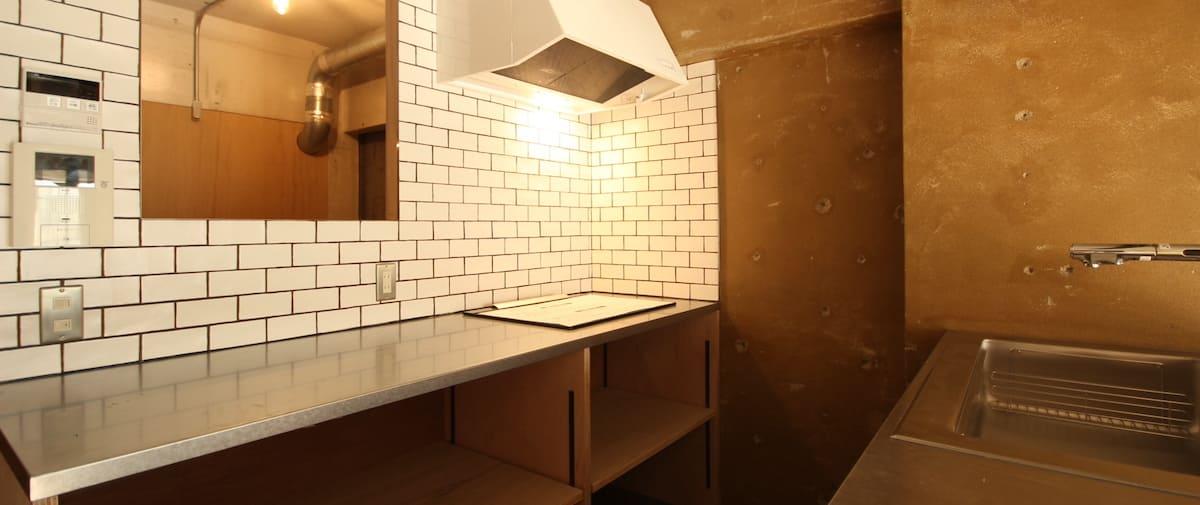 表参道の中古マンションのリノベーション後のキッチン