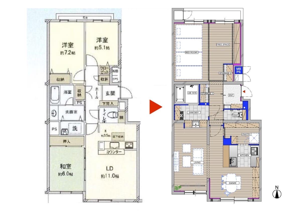 北戸田の中古マンションのビフォーアフター