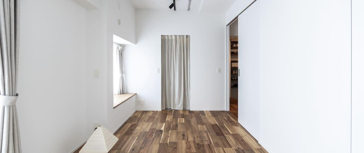 東川口の中古マンションのリノベーション後の寝室