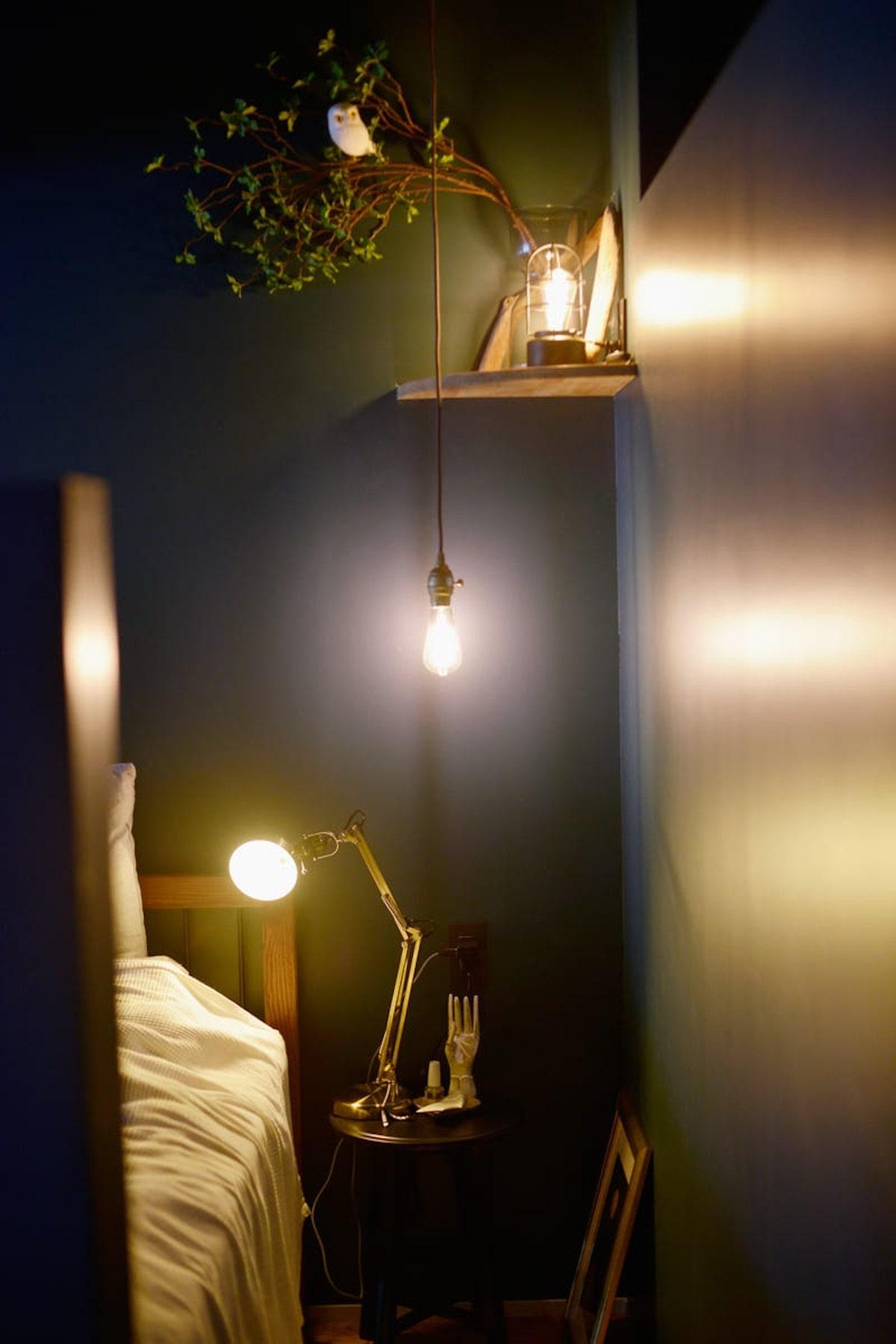 リノベーション事例 寝室 インダストリアル