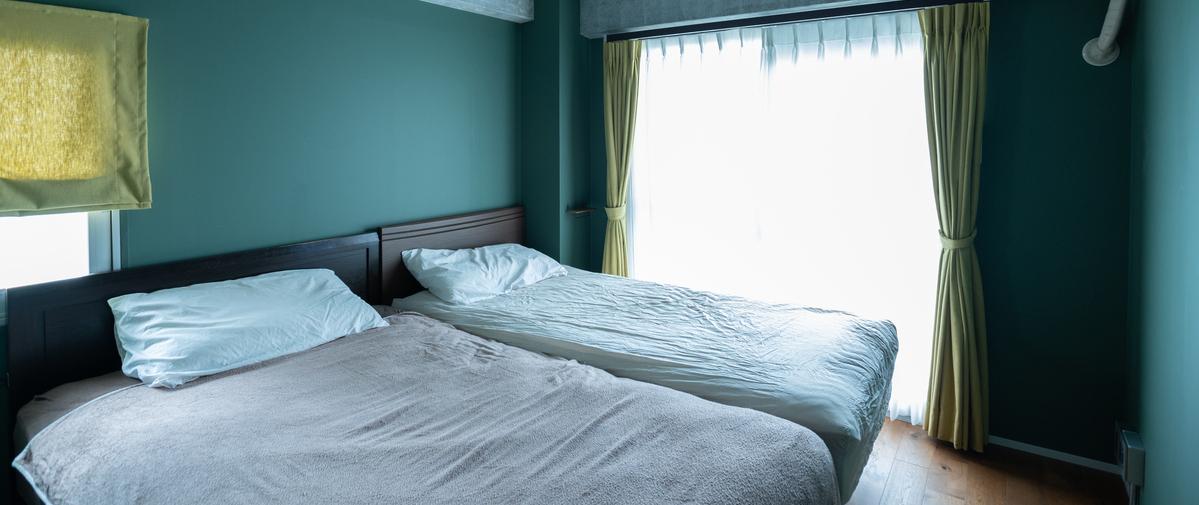 志村三丁目の中古マンションのリノベーション後の寝室