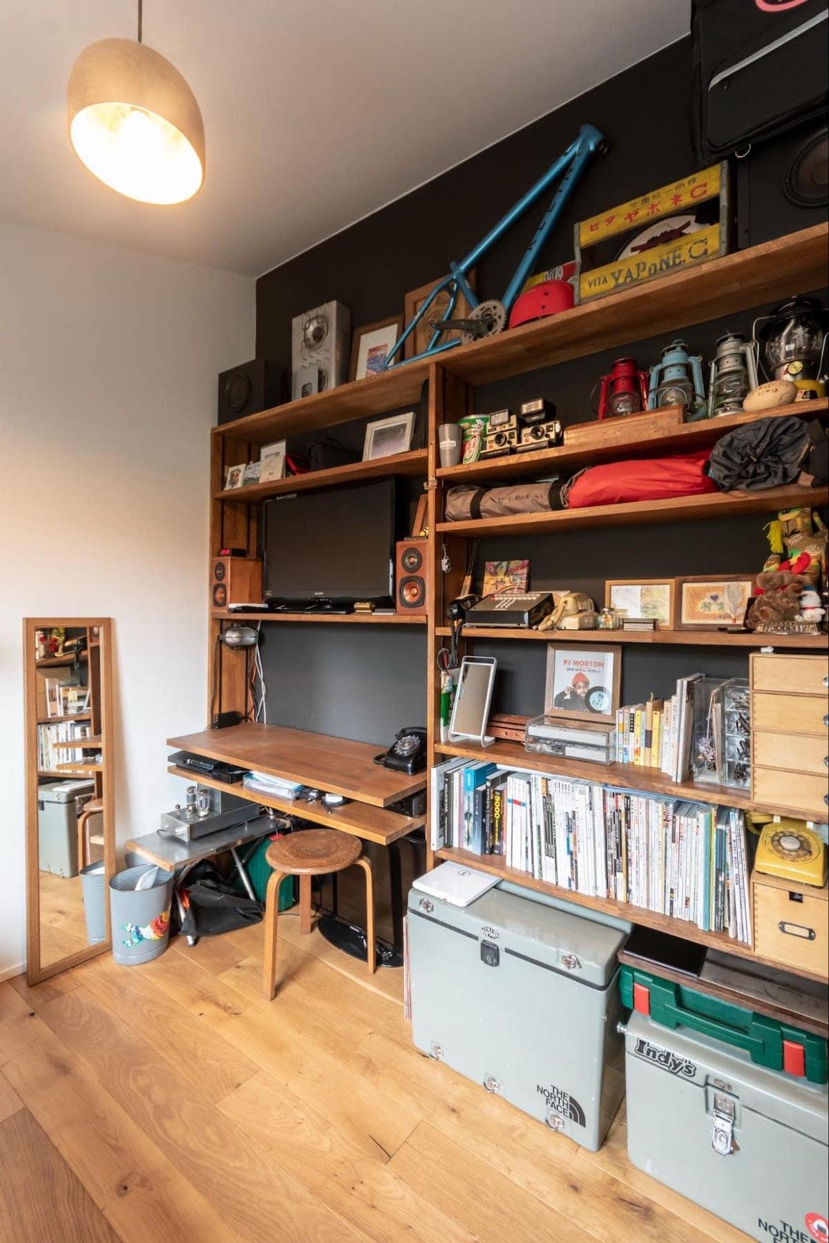造作棚のある書斎