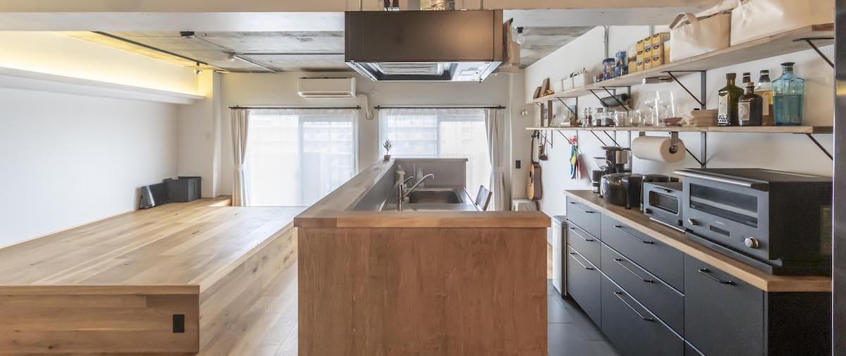 東大島の中古マンションのリノベーション後のキッチン