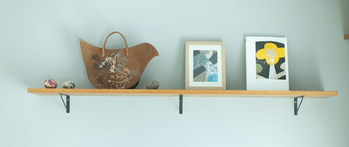 小物を飾る造作棚