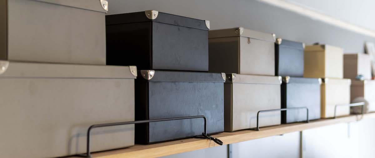 富士見台の中古マンションのリノベーション後の収納の箱